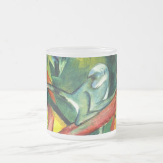 The Monkey 10 Oz Frosted Glass Coffee Mug