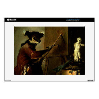"""The Monkey Painter, 1740 (oil on canvas) Decal For 15"""" Laptop"""