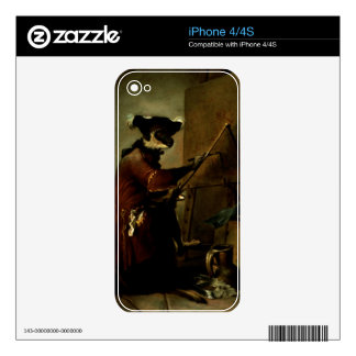 The Monkey Painter, 1740 (oil on canvas) iPhone 4S Skins