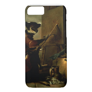 The Monkey Painter, 1740 (oil on canvas) iPhone 7 Case