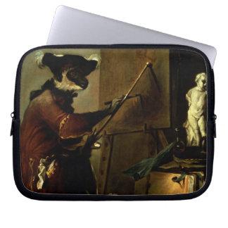 The Monkey Painter, 1740 (oil on canvas) Laptop Sleeve