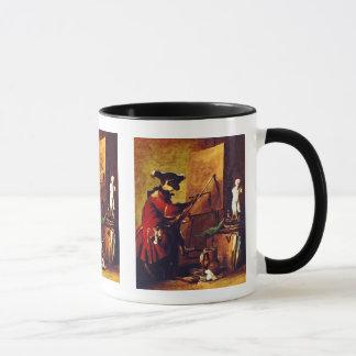 The Monkey Painter Mug