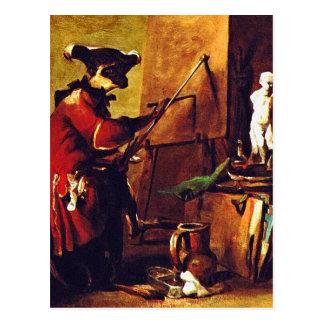 The Monkey Painter Postcard