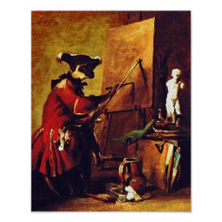 The Monkey Painter Poster