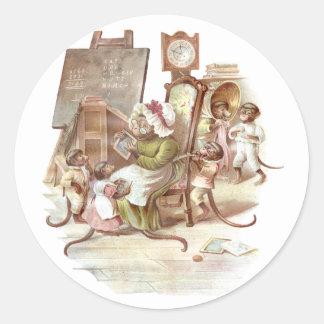 The Monkey School Classic Round Sticker