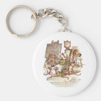 The Monkey School Keychain