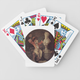 The Monkey Sculptor by Antoine Watteau Bicycle Playing Cards