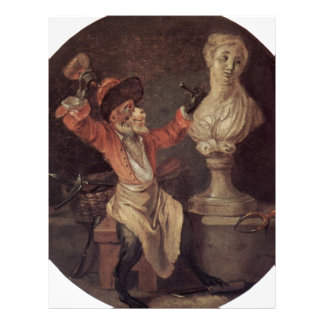 The Monkey Sculptor by Antoine Watteau Letterhead
