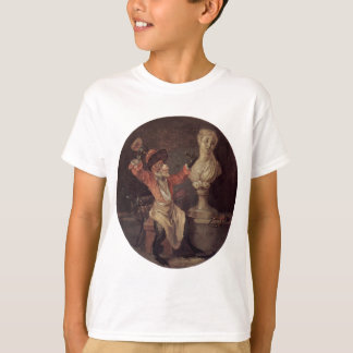 The Monkey Sculptor by Antoine Watteau T-Shirt
