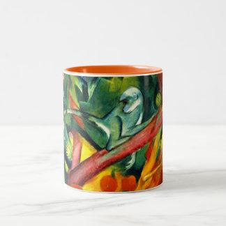 The Monkey Two-Tone Coffee Mug