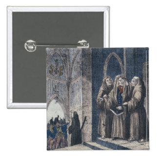 The Monks covering King with drape Camenz Convent Button