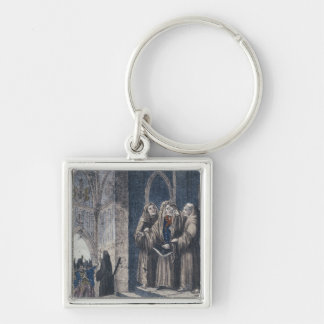 The Monks covering King with drape Camenz Convent Keychain