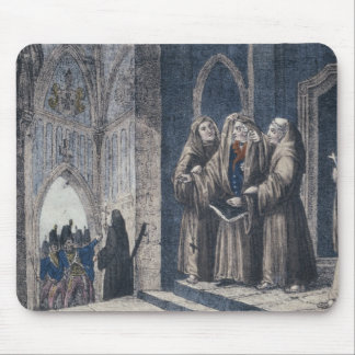 The Monks covering King with drape Camenz Convent Mouse Pad