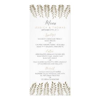 The Monochrome Fern Woodland Wedding Collection Rack Card