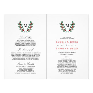 The Monogram Berry Bush Wedding Collection Flyer