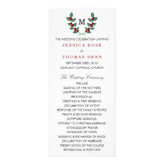 The Monogram Berry Bush Wedding Collection Rack Card