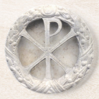 The Monogram of Christ - Chi-Rho Coaster