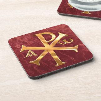 The Monogram of Christ Drink Coaster