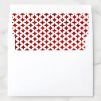 The Monogram Playing Card Wedding Collection Envelope Liner