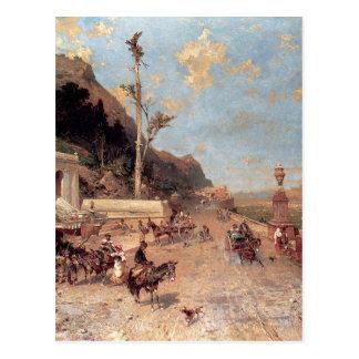 The Monreale Road, Palermo by Franz Richard Postcard
