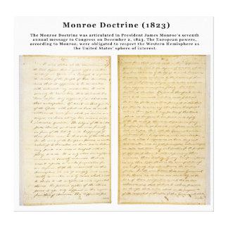 The Monroe Doctrine (1823) Canvas Print