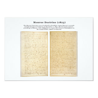 The Monroe Doctrine (1823) Custom Invitations