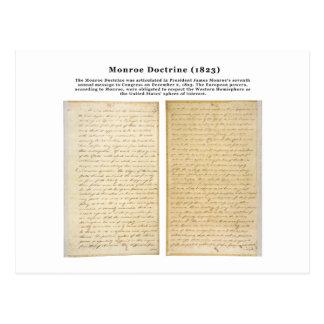 The Monroe Doctrine (1823) Postcard