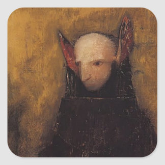 The Monster by Odilon Redon Square Sticker