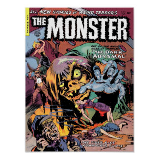 THE MONSTER Cool Vintage Comic Book Cover Art Poster