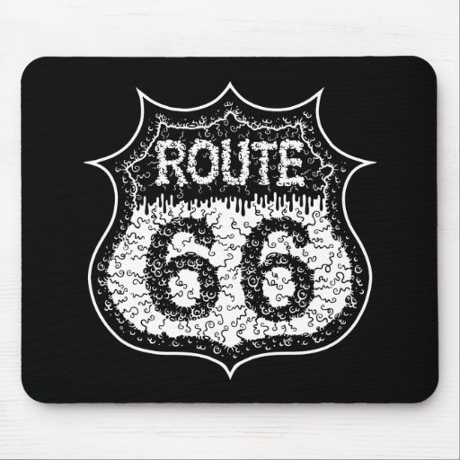 The Monster Road Mousepads
