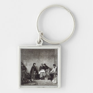 The Mont de Piete, from 'Leisure Hour', 1891 Keychain