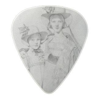 The Montagu Sisters in Rome, 1815 Acetal Guitar Pick