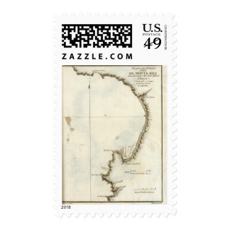 The Monterey Bay and peninsula Postage Stamp