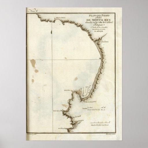 The Monterey Bay and peninsula Print