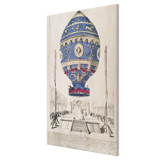 The Montgolfier Brothers' Balloon Experiment Canvas Print