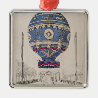 The Montgolfier Brothers' Balloon Experiment Metal Ornament