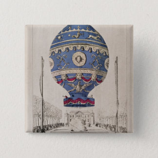 The Montgolfier Brothers' Balloon Experiment Pinback Button