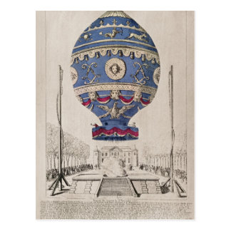 The Montgolfier Brothers' Balloon Experiment Postcard