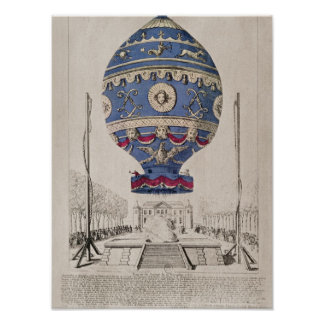 The Montgolfier Brothers' Balloon Experiment Poster