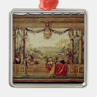 The Month of April/ Chateau of Versailles Metal Ornament