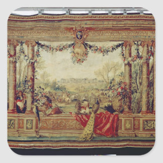 The Month of April/ Chateau of Versailles Square Sticker