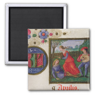 The Month of April: In the Meadows 2 Inch Square Magnet