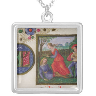 The Month of April: In the Meadows Silver Plated Necklace