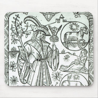 The month of April with astrological sun signs Mouse Pad