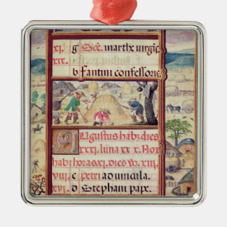 The month of August Metal Ornament