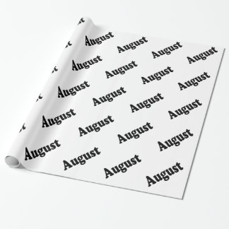 The Month of August Text Wrapping Paper