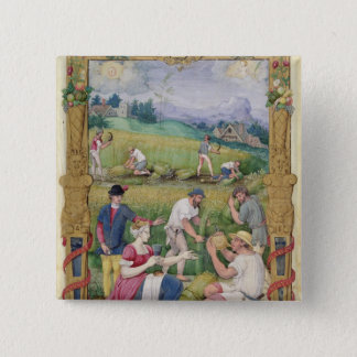The Month of August: The Harvest Button