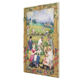 The Month of August: The Harvest Canvas Print