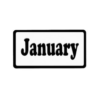 The Month of January Text Labels