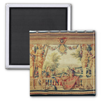 The Month of July/ Chateau of Vincennes 2 Inch Square Magnet